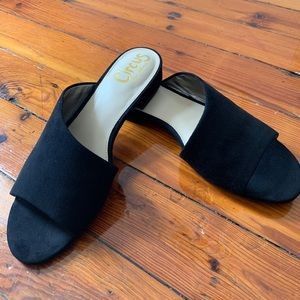 NWOT Black Suede Mules - Circus by Sam Edelman